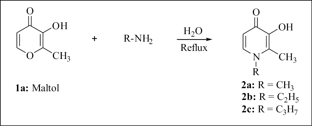 Figure 1: Synthesis of 3-hydroxy-2-methylpyridin-4-one derivatives from maltol